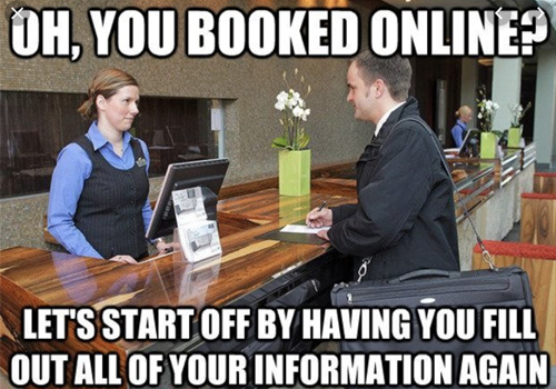 you booked online