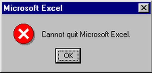kann nicht excel beenden