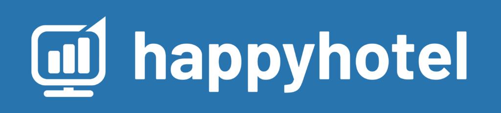 logo happyhotel in blue ohne claim
