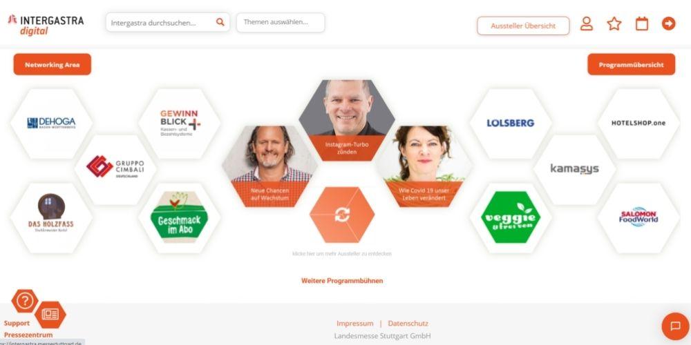 Digitale Intergastra März 2021 Startseite