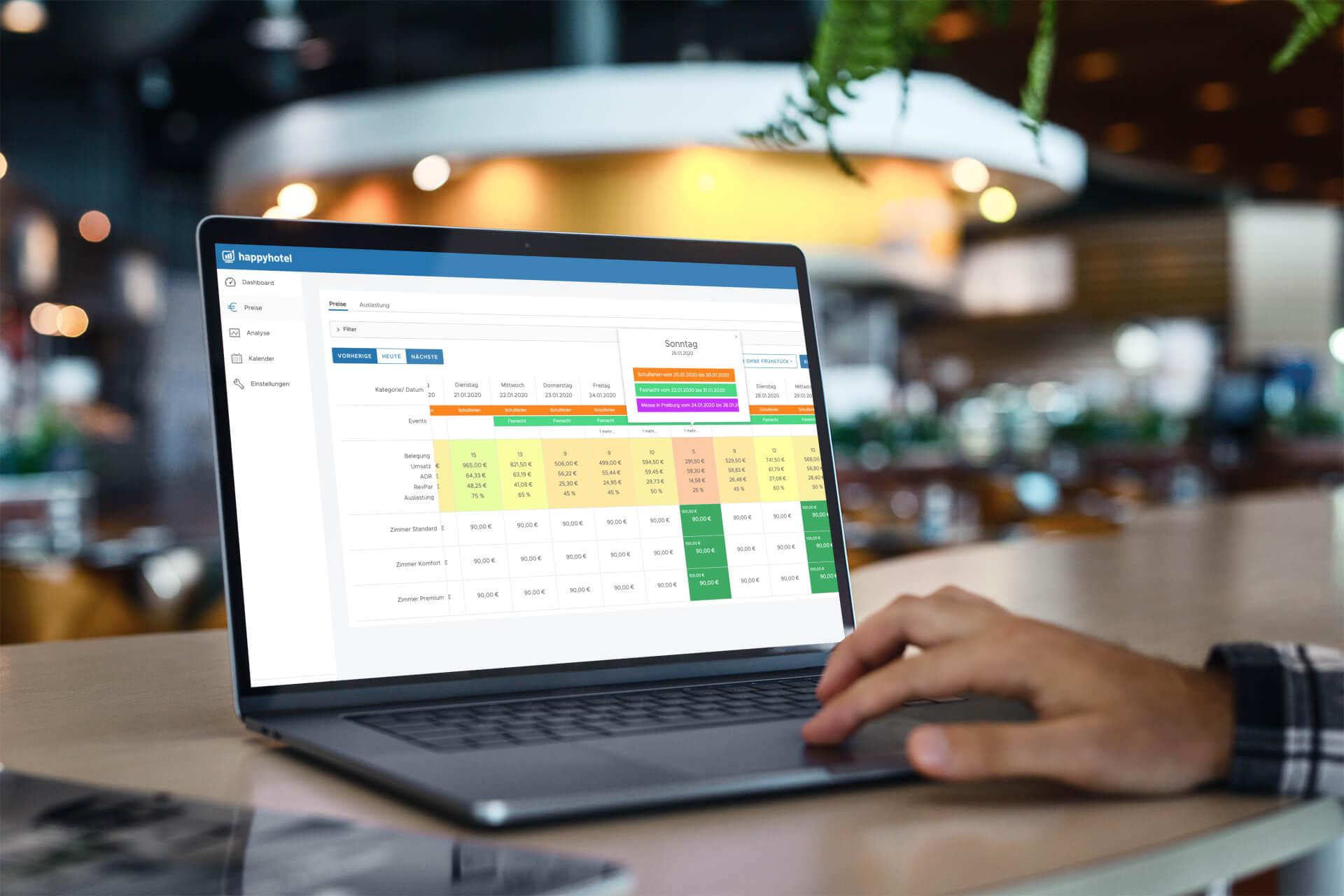 happyhotel revenue management software